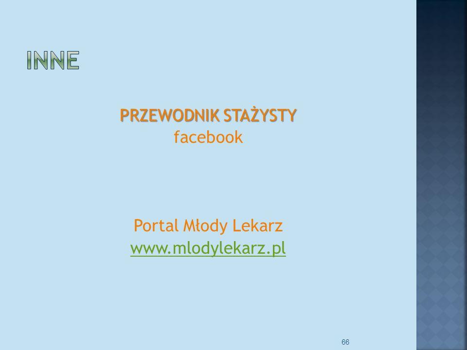 PRZEWODNIK STAŻYSTY facebook Portal Młody Lekarz www.mlodylekarz.pl
