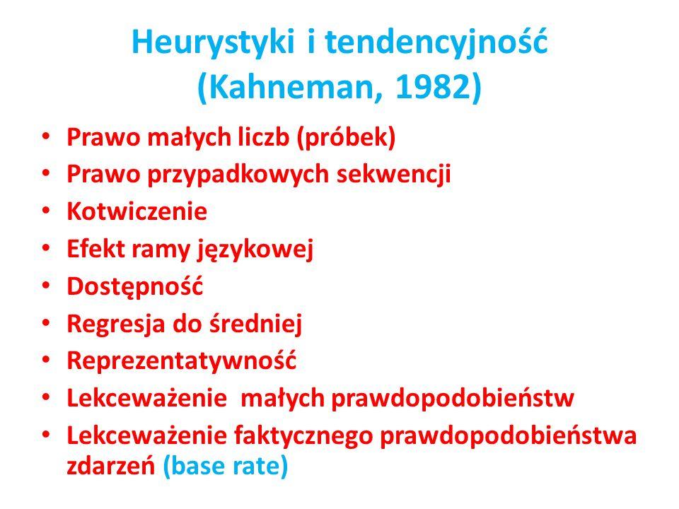 Heurystyki i tendencyjność (Kahneman, 1982)