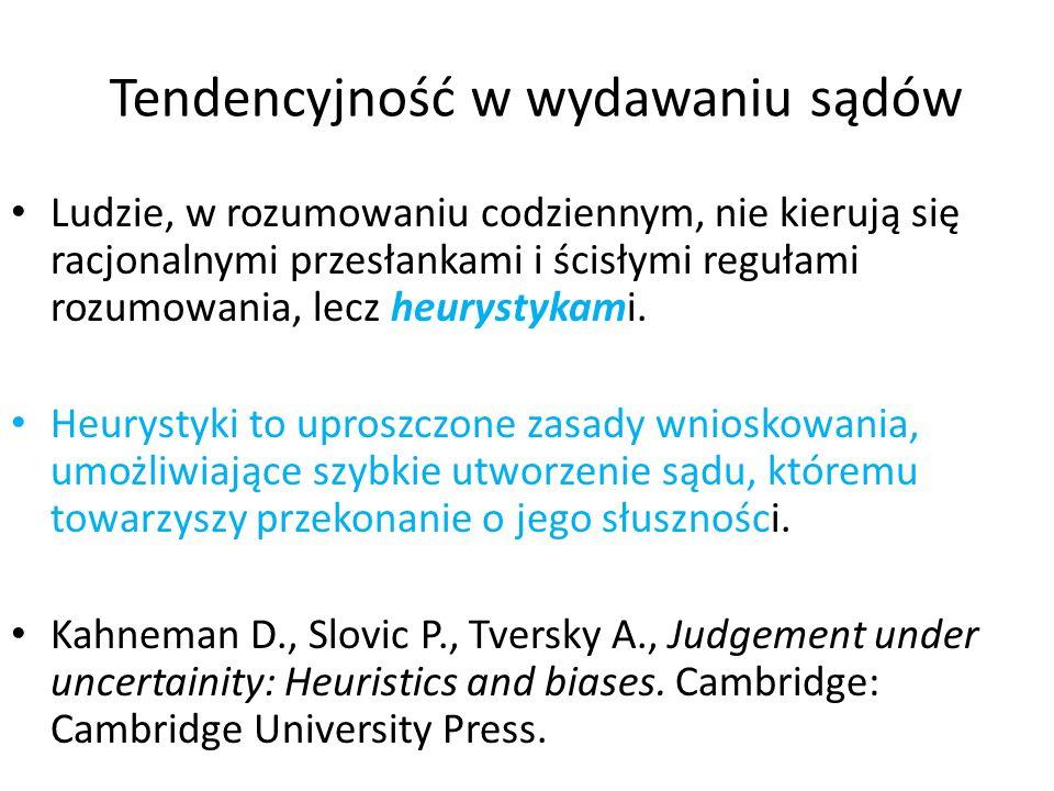 Tendencyjność w wydawaniu sądów