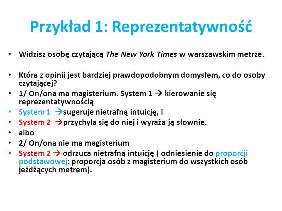 Przykład 1: Reprezentatywność