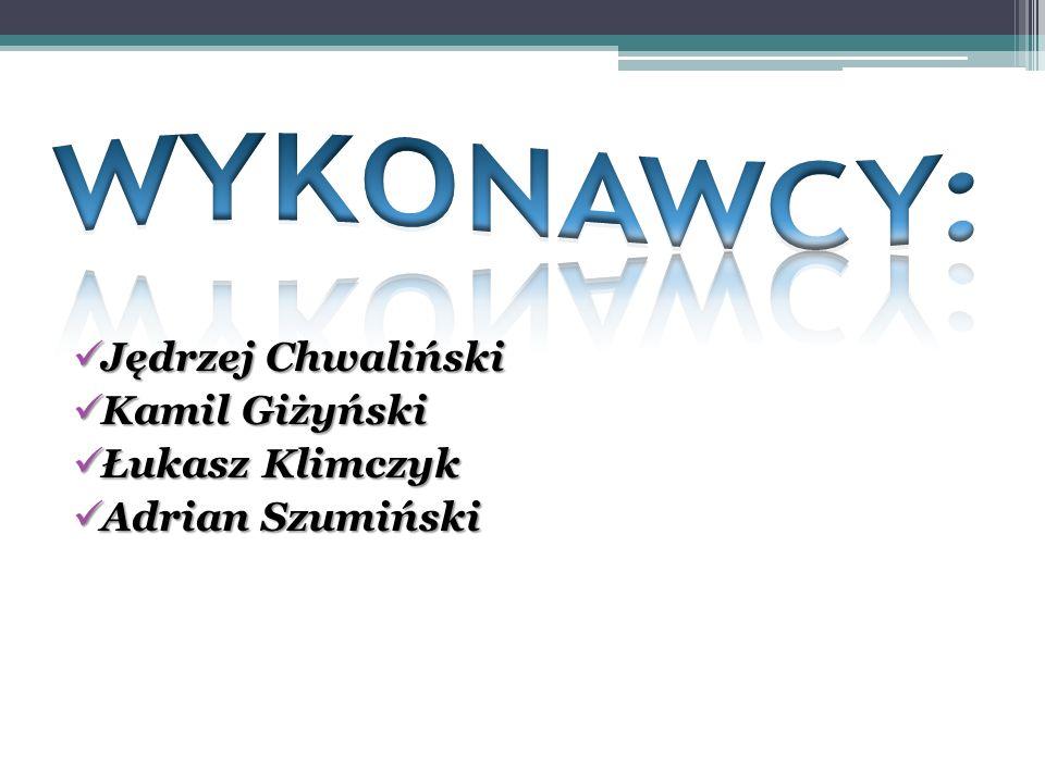 Jędrzej Chwaliński Kamil Giżyński Łukasz Klimczyk Adrian Szumiński