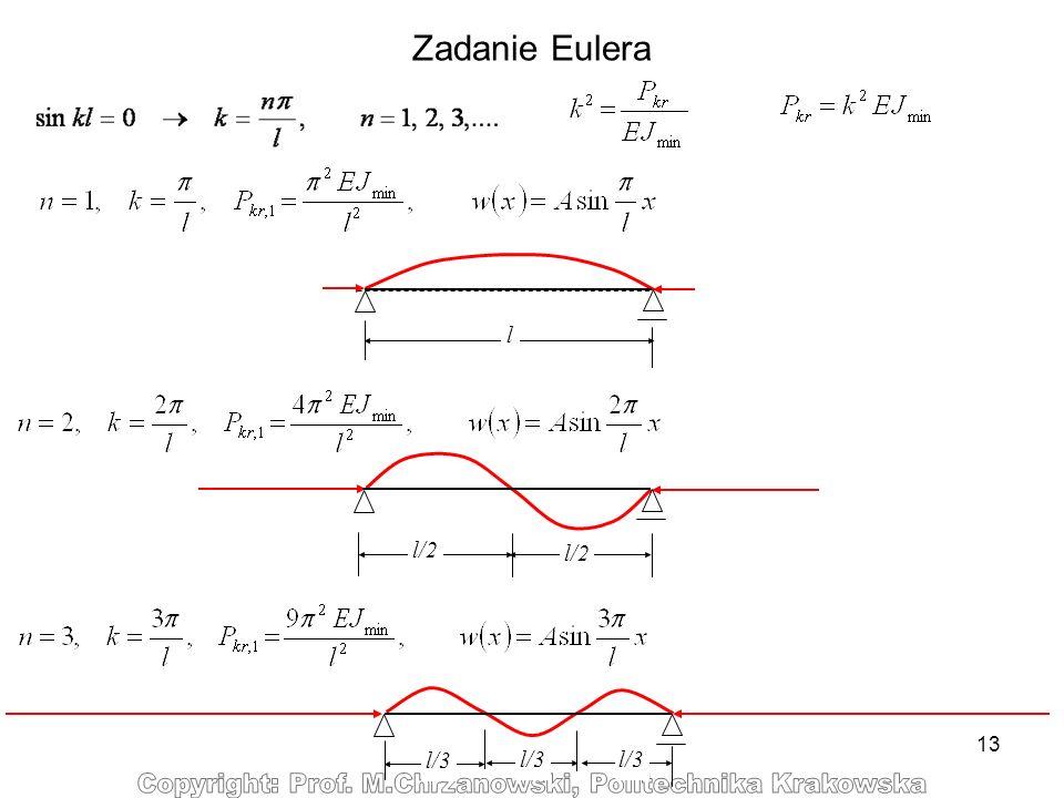 Zadanie Eulera l l/2 l/3