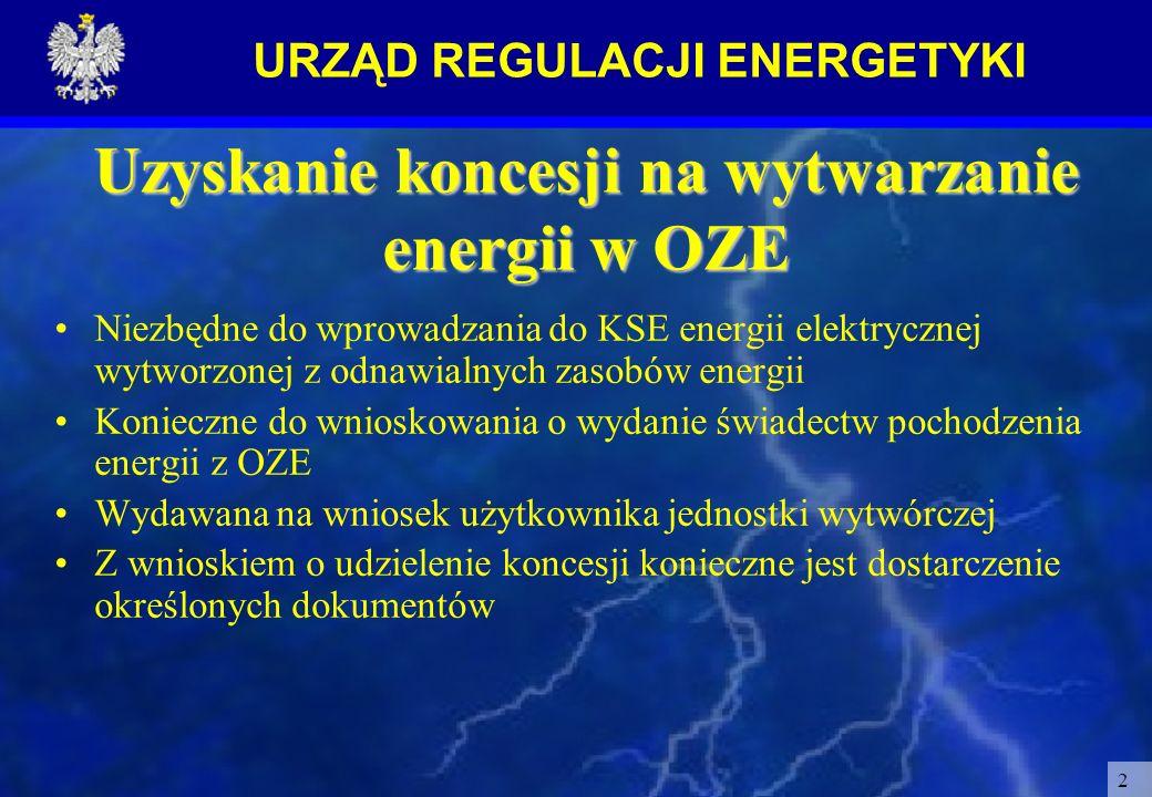 Uzyskanie koncesji na wytwarzanie energii w OZE