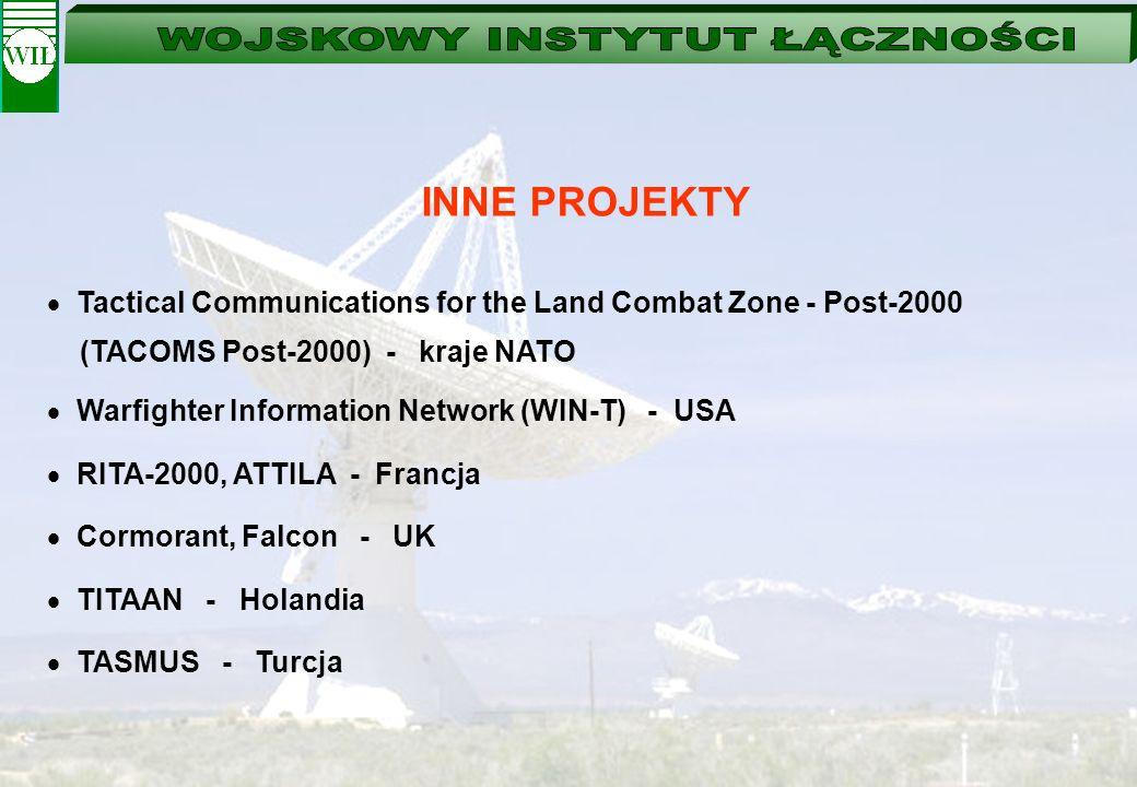 INNE PROJEKTYTactical Communications for the Land Combat Zone - Post-2000. (TACOMS Post-2000) - kraje NATO.