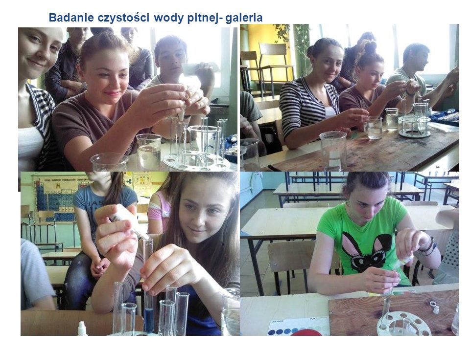 Badanie czystości wody pitnej- galeria
