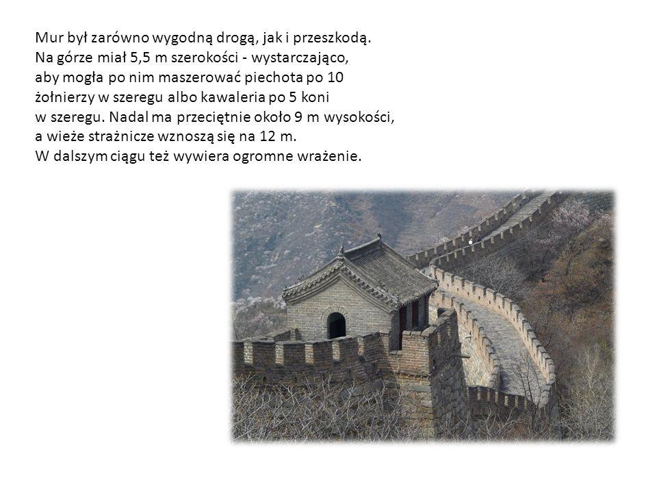 Mur był zarówno wygodną drogą, jak i przeszkodą.