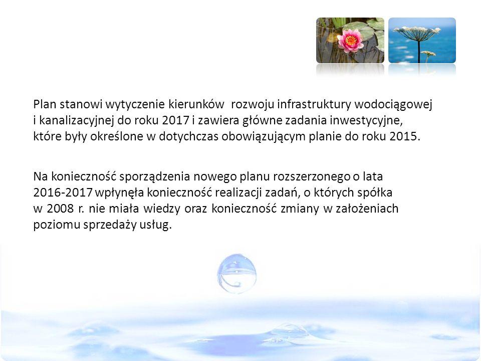 Plan stanowi wytyczenie kierunków rozwoju infrastruktury wodociągowej