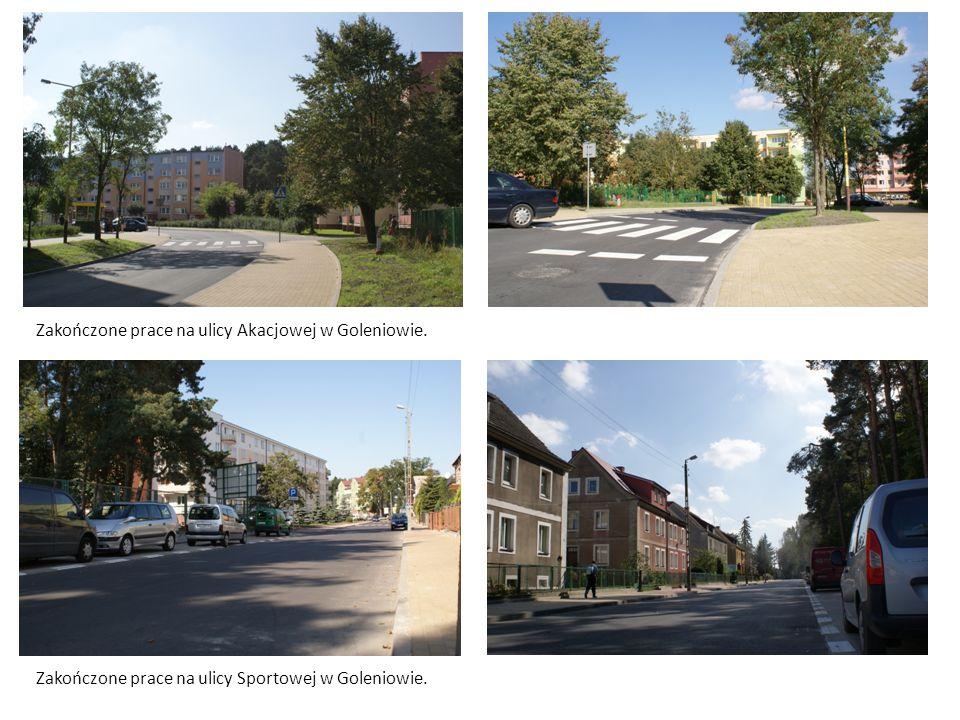 Zakończone prace na ulicy Akacjowej w Goleniowie.