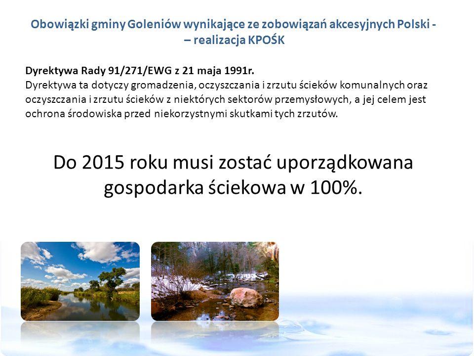 Obowiązki gminy Goleniów wynikające ze zobowiązań akcesyjnych Polski -
