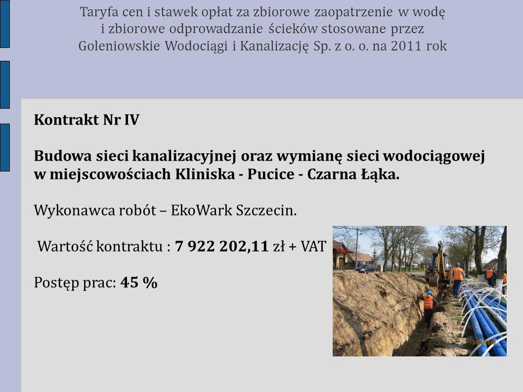 Wykonawca robót – EkoWark Szczecin.