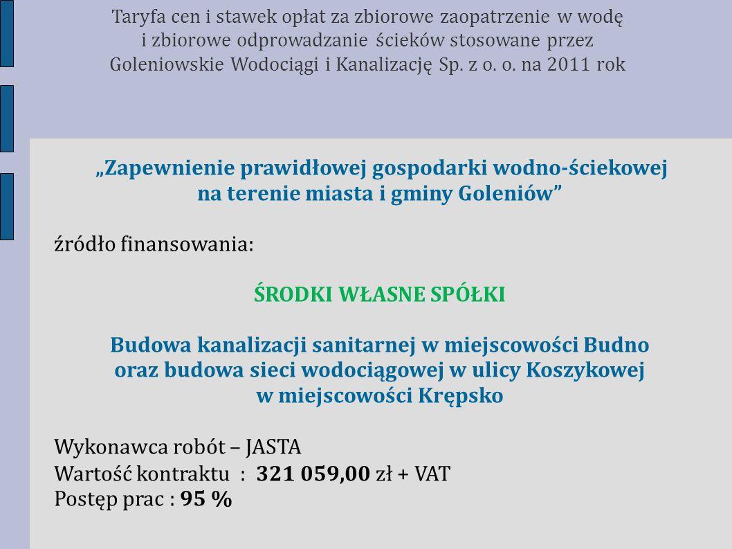 na terenie miasta i gminy Goleniów źródło finansowania: