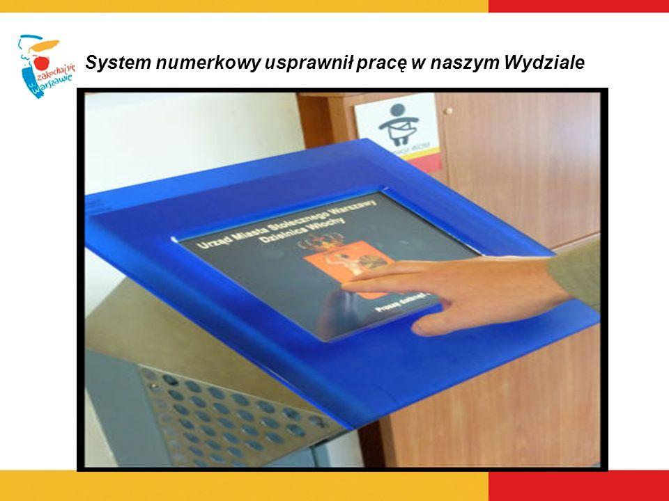 System numerkowy usprawnił pracę w naszym Wydziale