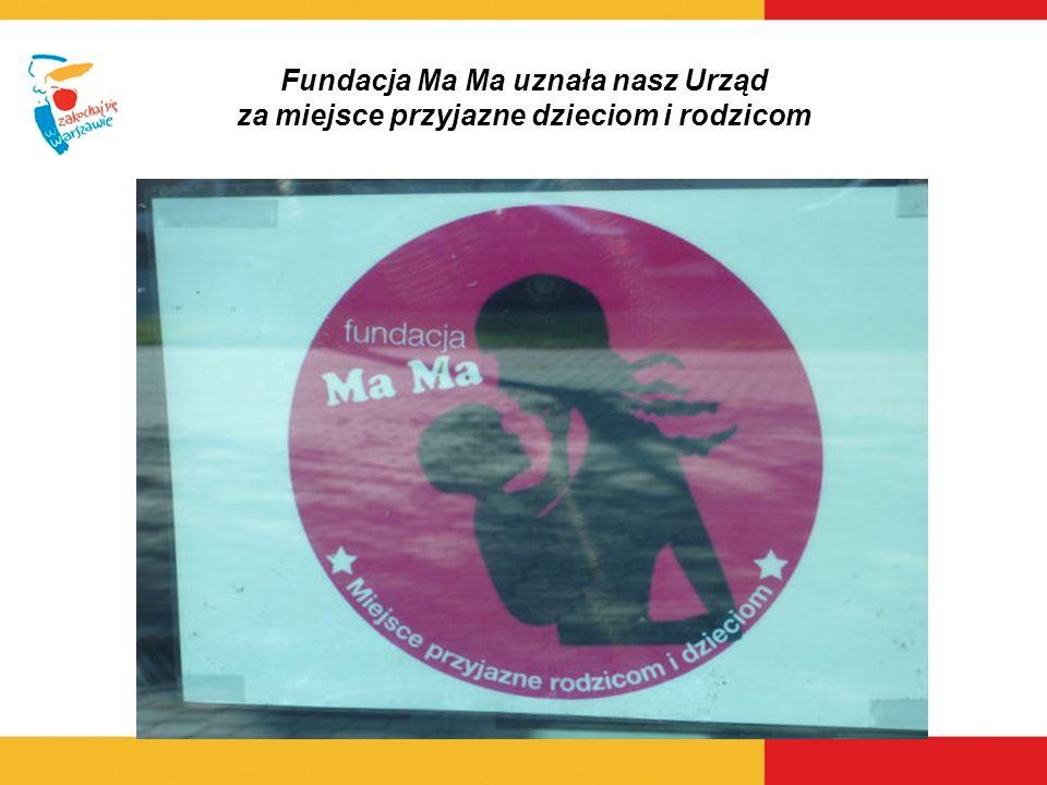 Fundacja Ma Ma uznała nasz Urząd za miejsce przyjazne dzieciom i rodzicom
