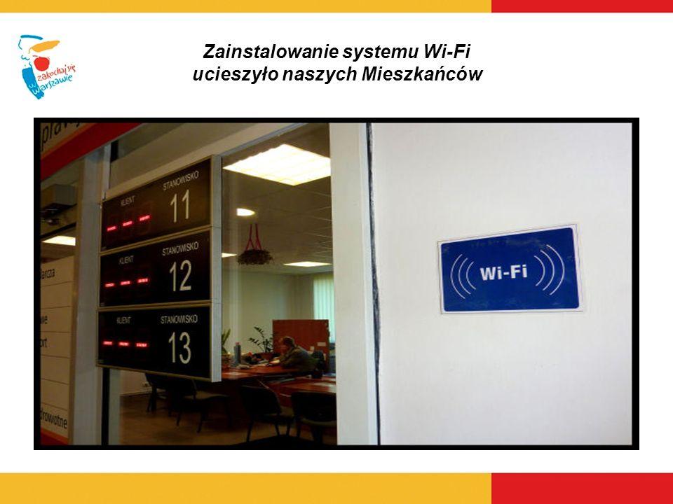 Zainstalowanie systemu Wi-Fi ucieszyło naszych Mieszkańców