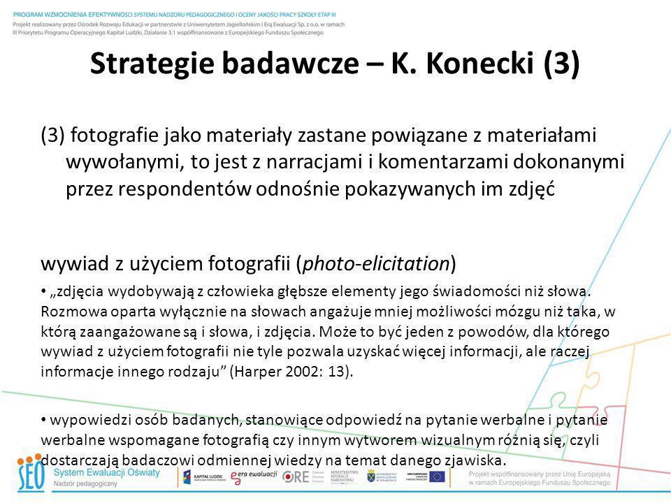 Strategie badawcze – K. Konecki (3)