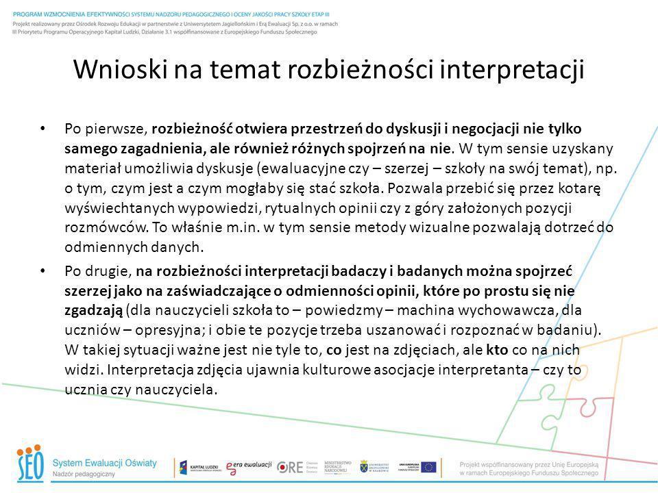 Wnioski na temat rozbieżności interpretacji