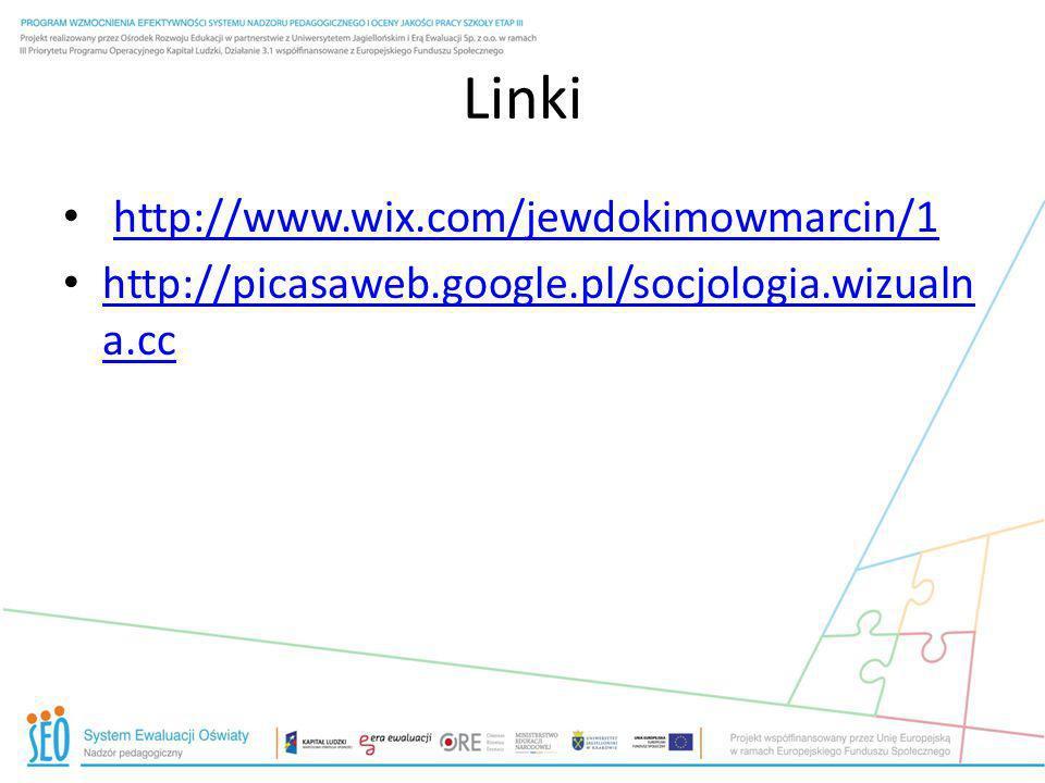Linki http://www.wix.com/jewdokimowmarcin/1