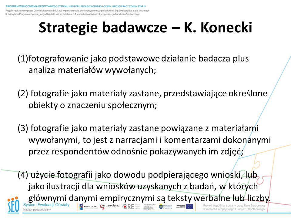 Strategie badawcze – K. Konecki