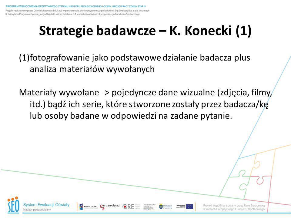 Strategie badawcze – K. Konecki (1)