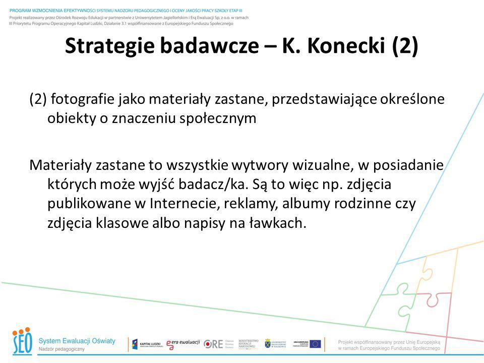 Strategie badawcze – K. Konecki (2)