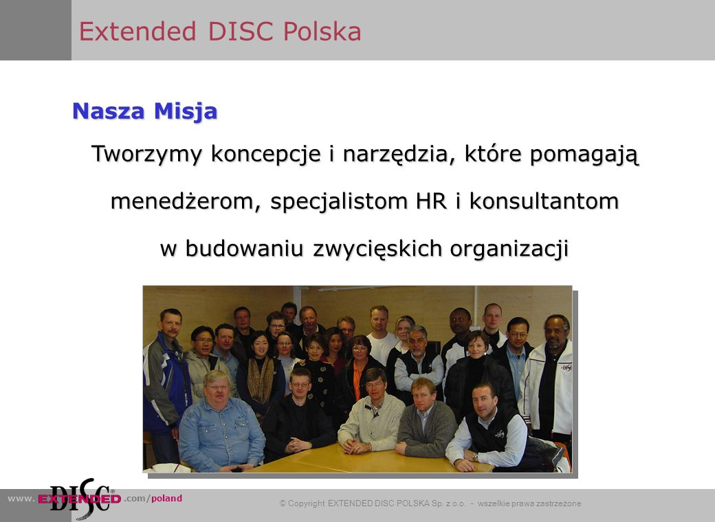 Extended DISC Polska Nasza Misja