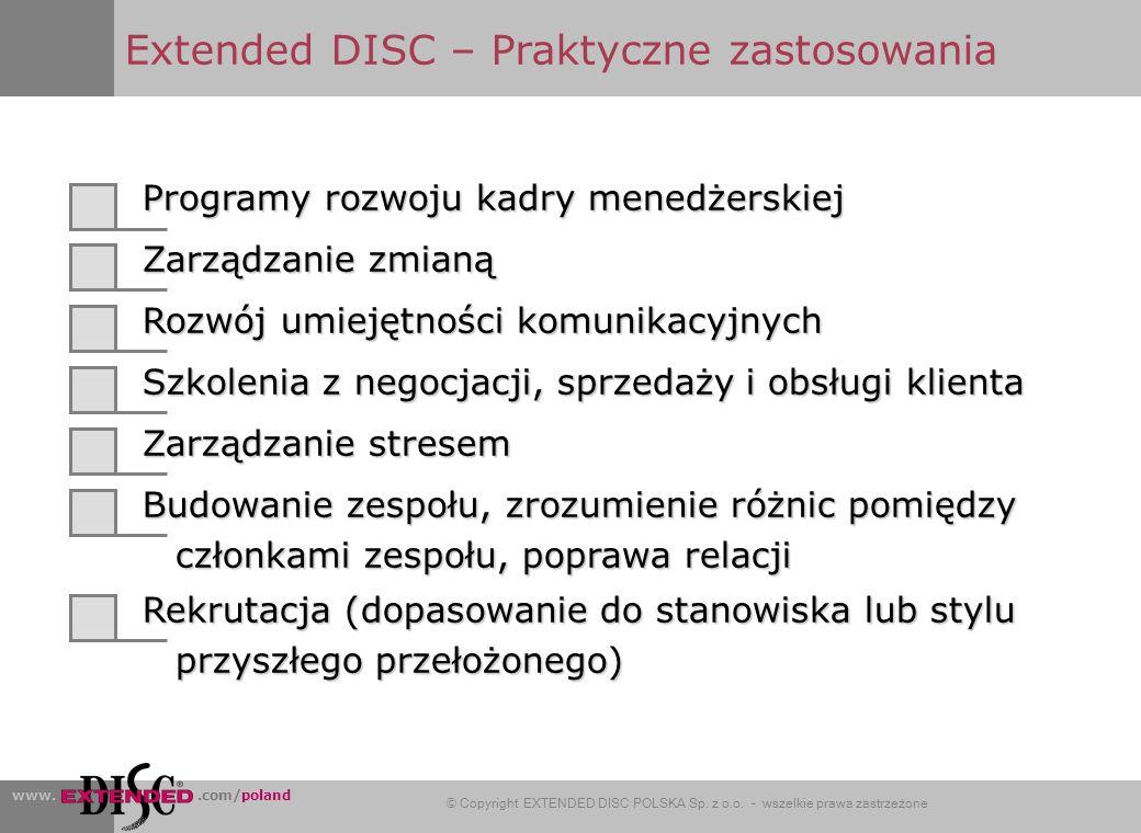 Extended DISC – Praktyczne zastosowania