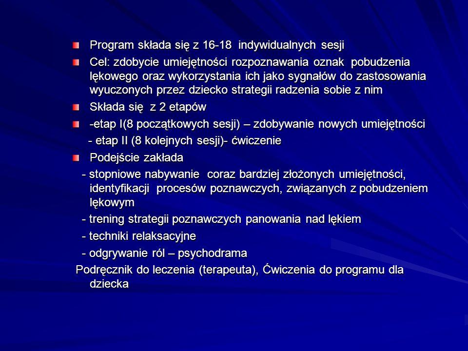 Program składa się z 16-18 indywidualnych sesji