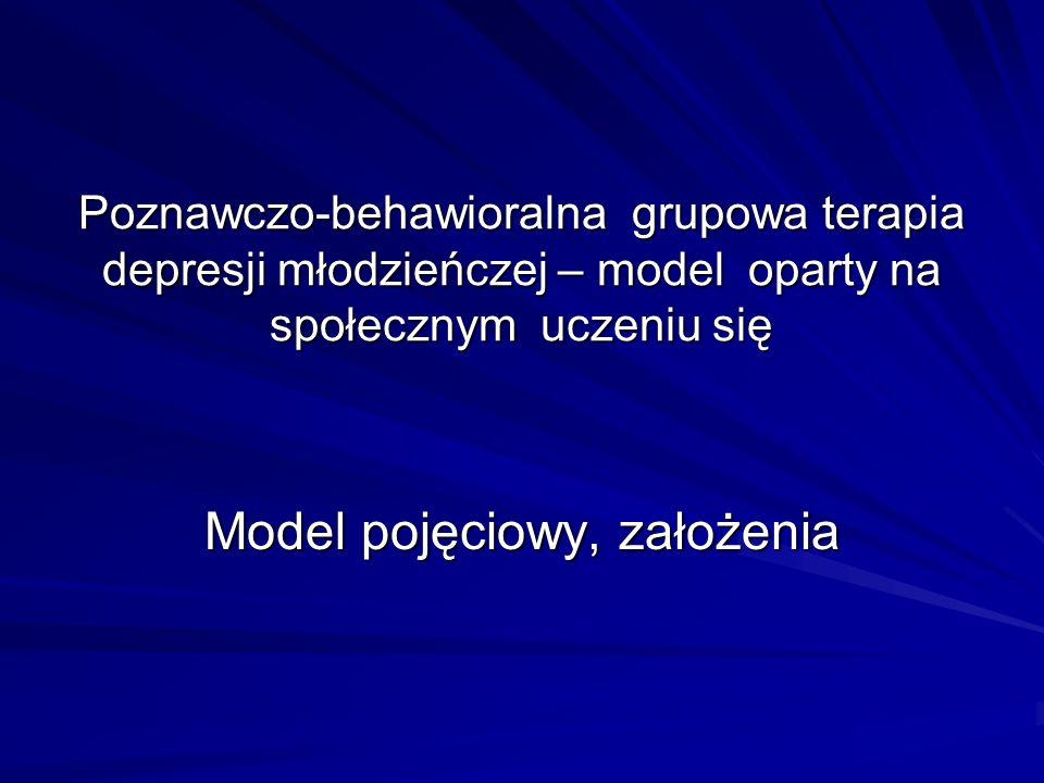 Model pojęciowy, założenia