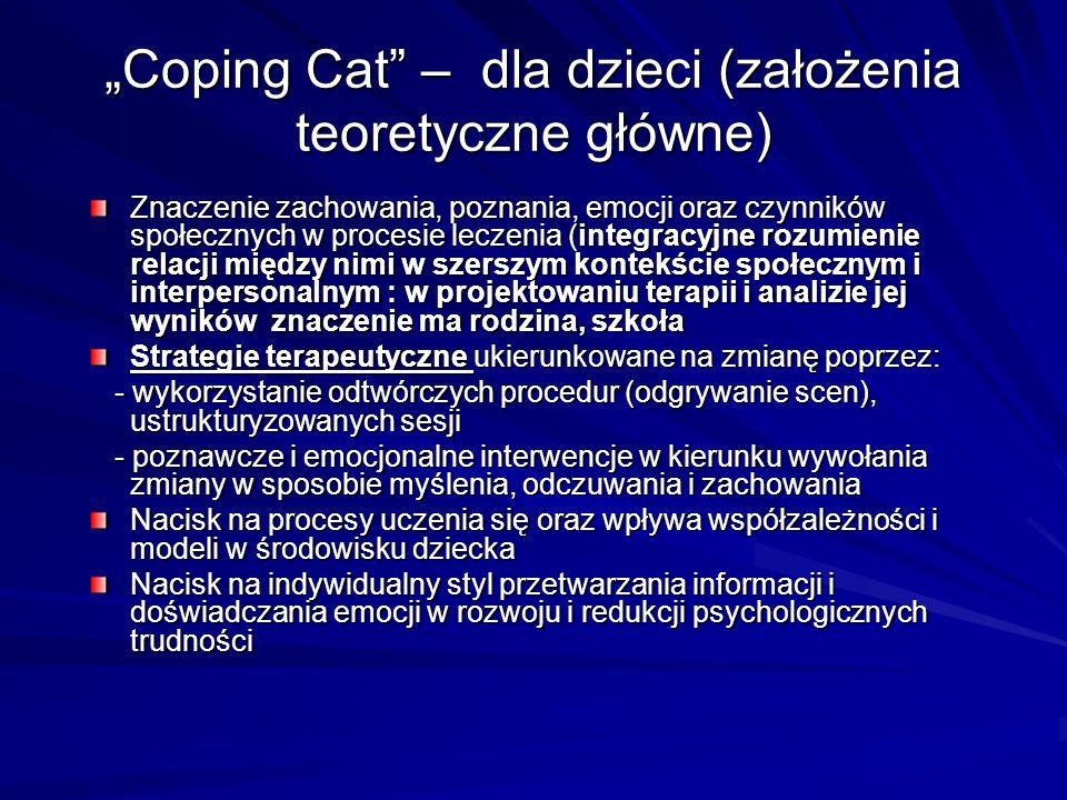 """""""Coping Cat – dla dzieci (założenia teoretyczne główne)"""