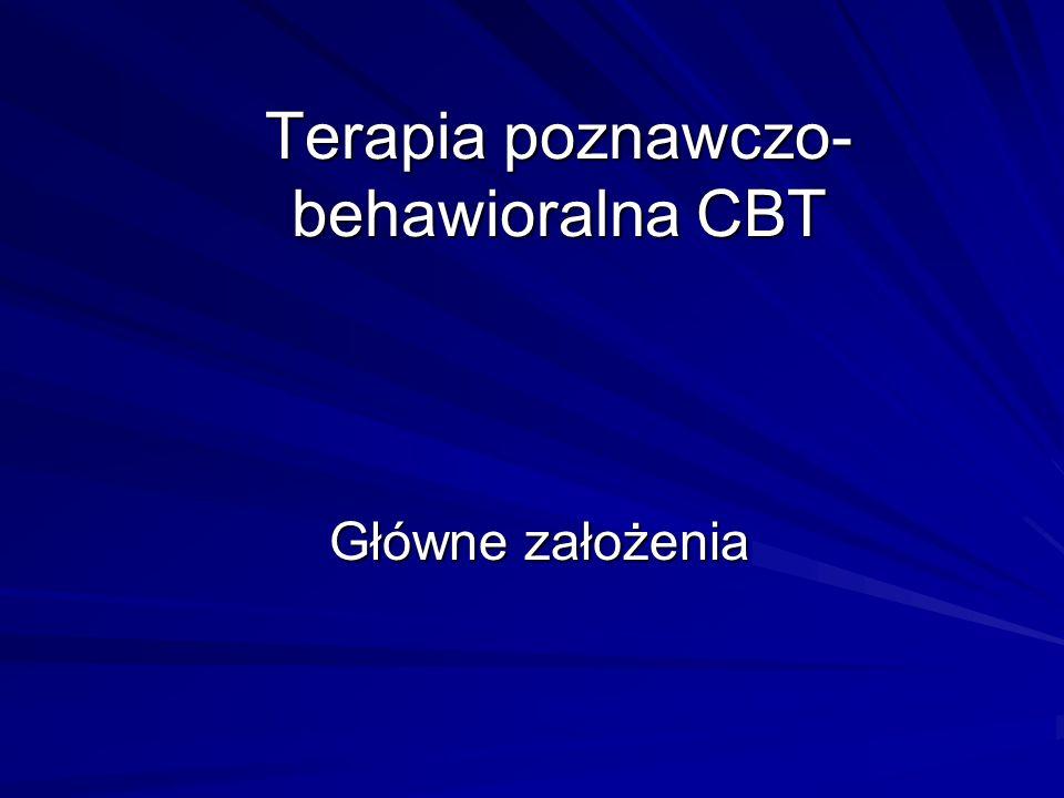 Terapia poznawczo-behawioralna CBT