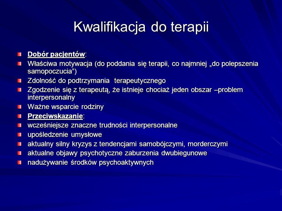 Kwalifikacja do terapii