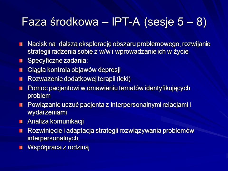Faza środkowa – IPT-A (sesje 5 – 8)