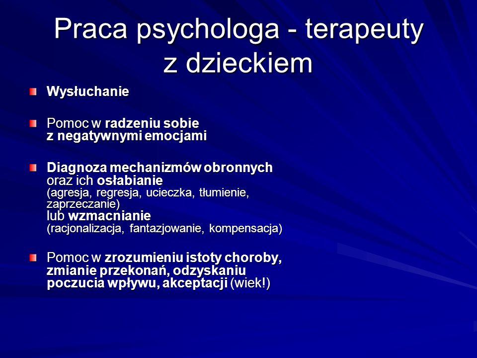 Praca psychologa - terapeuty z dzieckiem