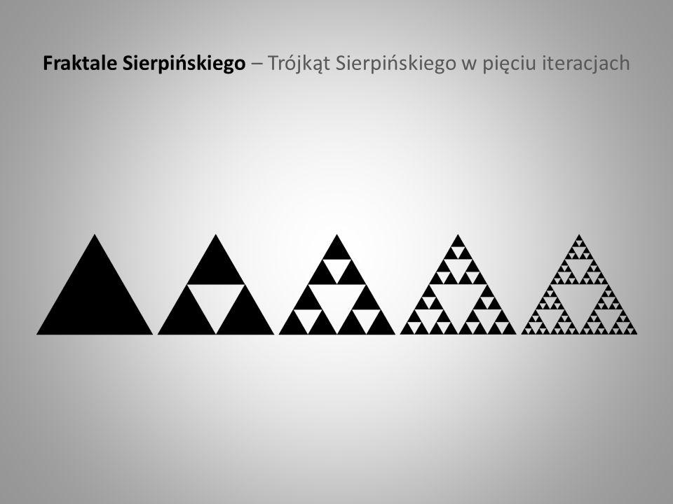 Fraktale Sierpińskiego – Trójkąt Sierpińskiego w pięciu iteracjach