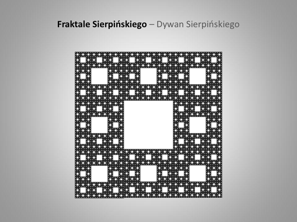 Fraktale Sierpińskiego – Dywan Sierpińskiego