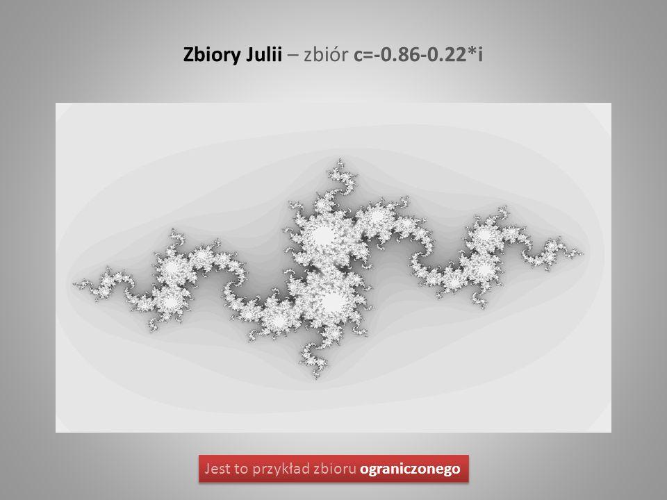 Zbiory Julii – zbiór c=-0.86-0.22*i