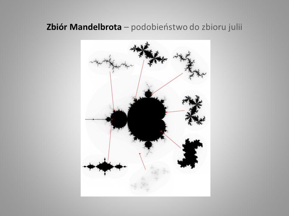 Zbiór Mandelbrota – podobieństwo do zbioru julii