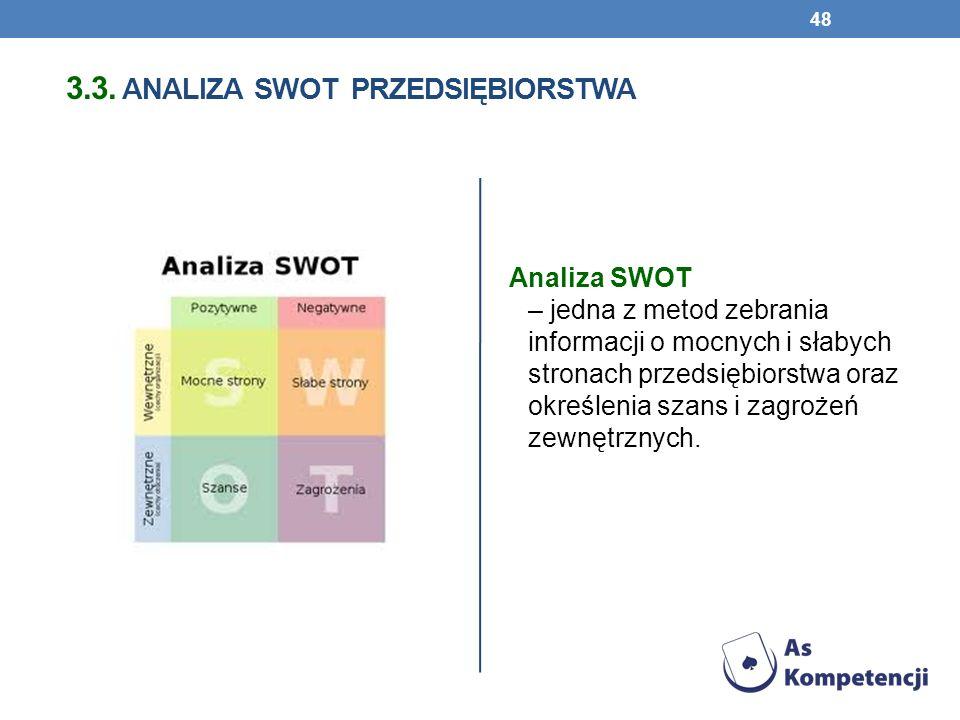 3.3. analiza swot przedsiębiorstwa
