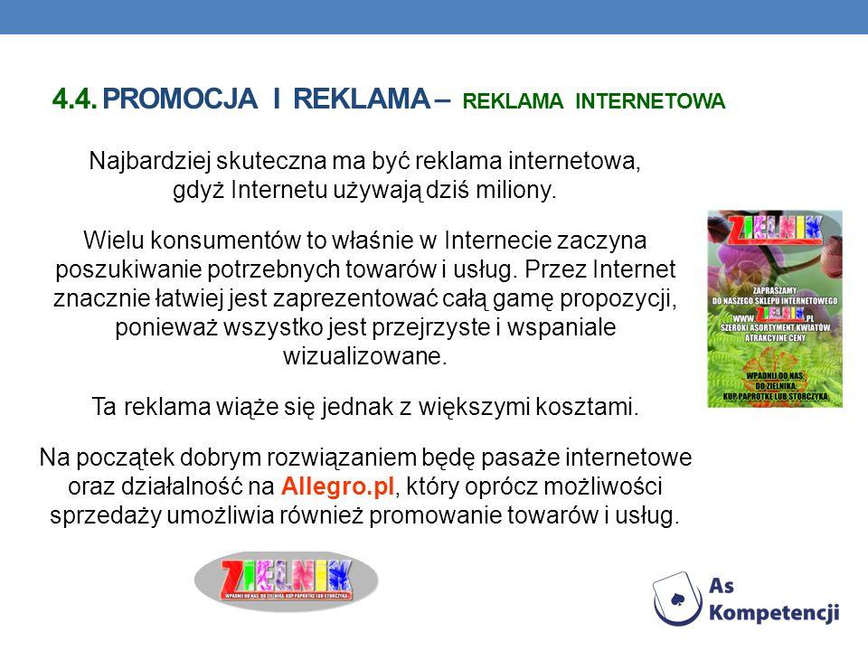 4.4. Promocja i reklama – reklama internetowa