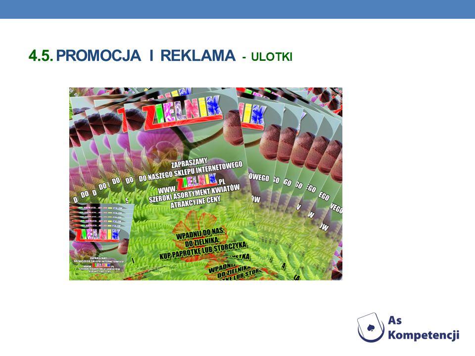 4.5. Promocja i reklama - ulotki