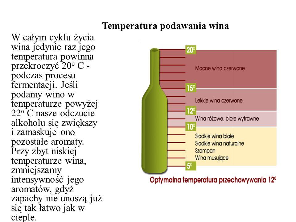 Temperatura podawania wina