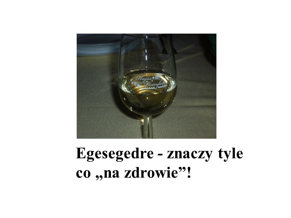 """Egesegedre - znaczy tyle co """"na zdrowie !"""