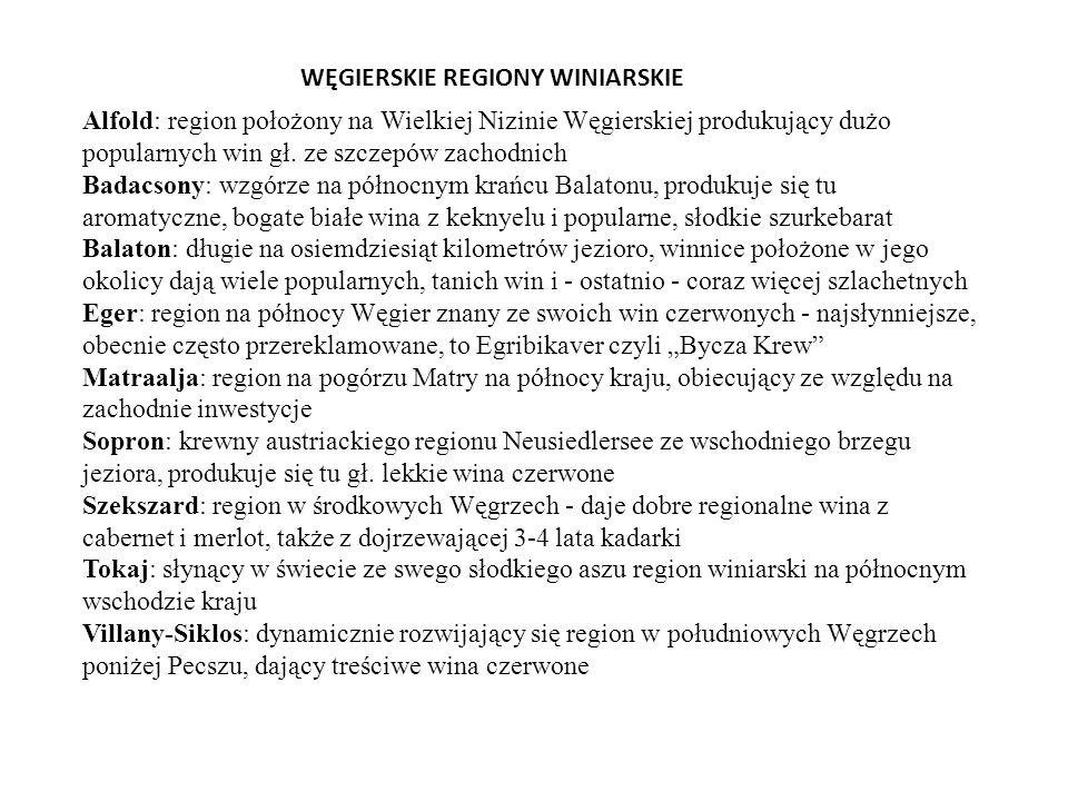 WĘGIERSKIE REGIONY WINIARSKIE