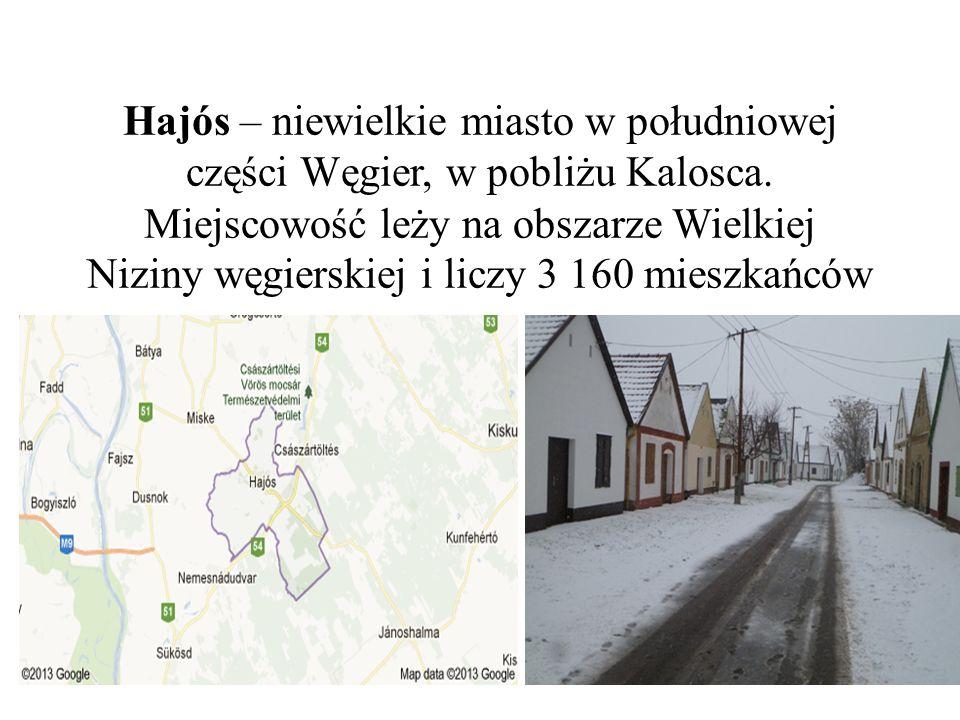 Hajós – niewielkie miasto w południowej części Węgier, w pobliżu Kalosca.