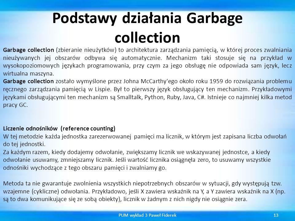 Podstawy działania Garbage collection