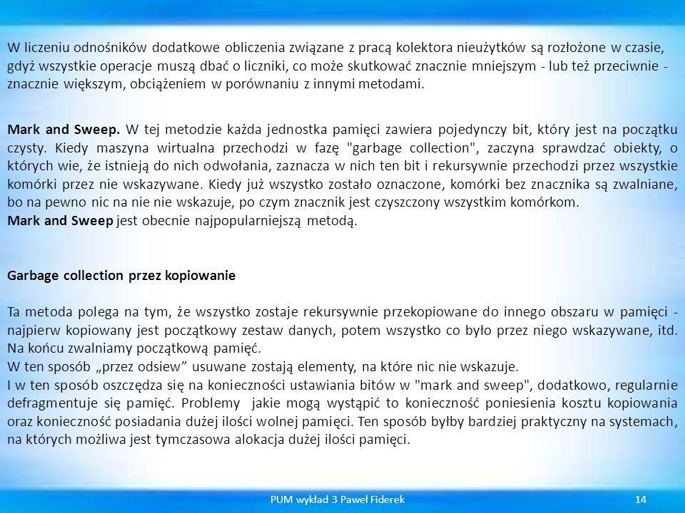 PUM wykład 3 Paweł Fiderek