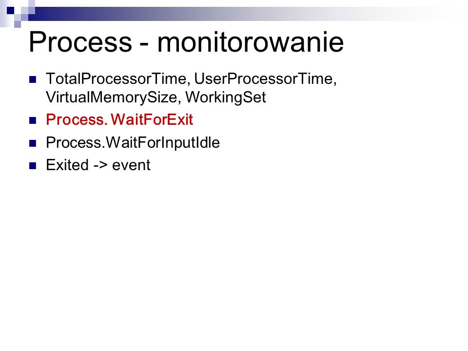 Process - monitorowanie