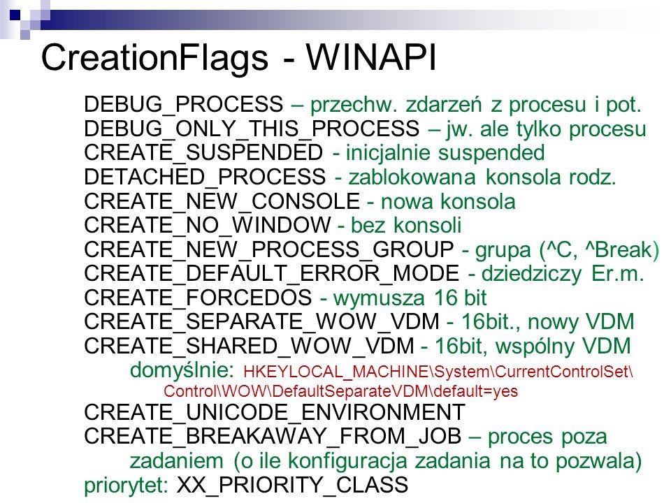 CreationFlags - WINAPI