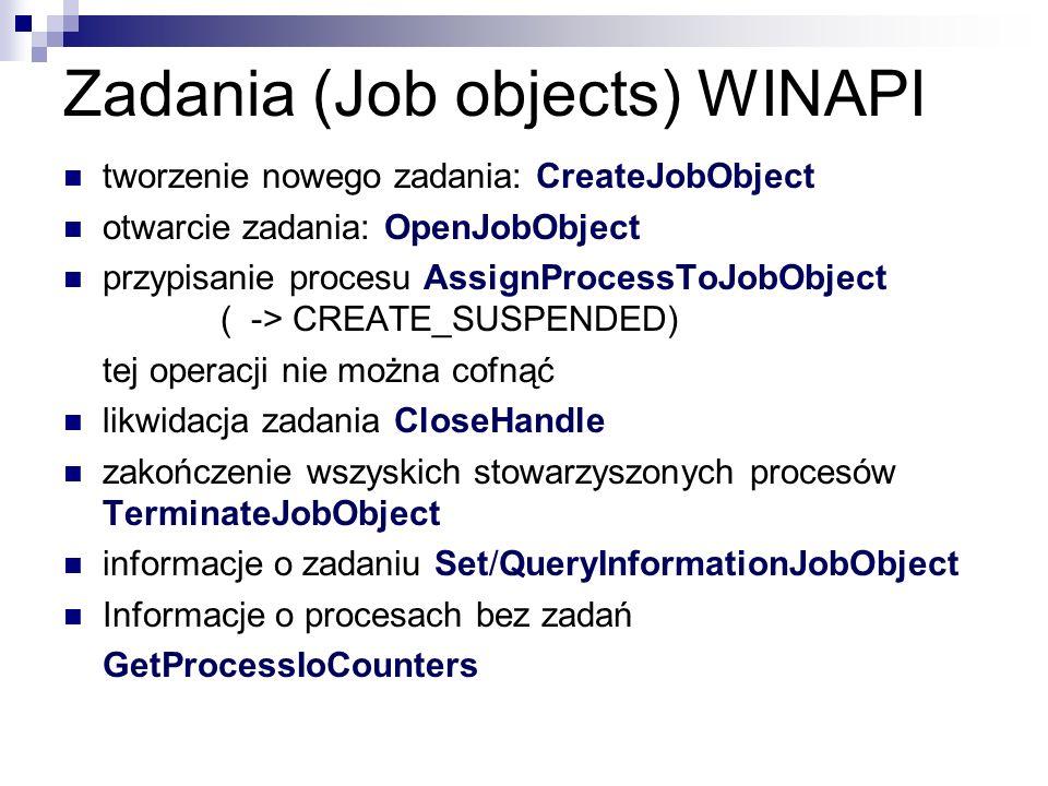 Zadania (Job objects) WINAPI
