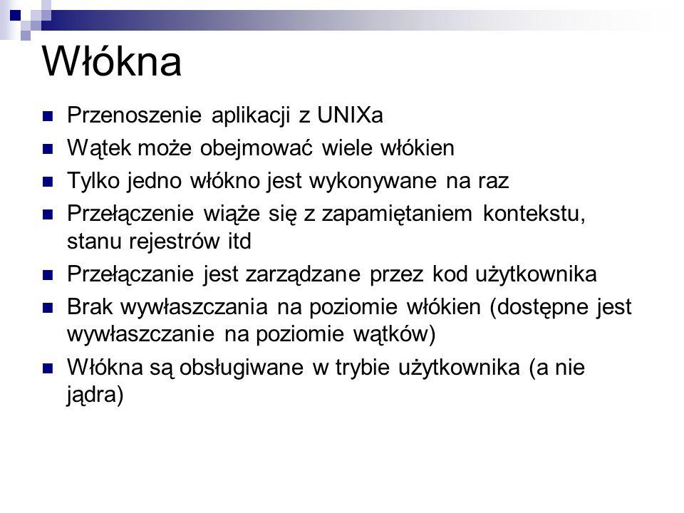 Włókna Przenoszenie aplikacji z UNIXa